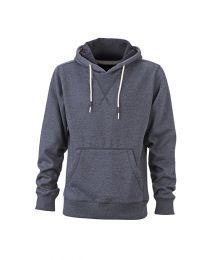 Coole hoodie in superzachte melange stof, heren.