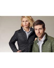 Gewatteerde jas met modieuse details, dames.