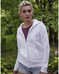 Premium hoodie, full zip, dames.