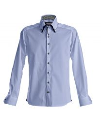 Strijkvrije Overhemden Harvest & Frost Slim Fit Purple Bow 43