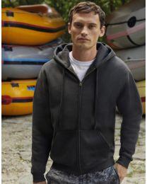 Premium hoodie, full zip, heren.