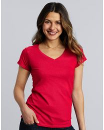 T-shirt Gildan Softstyle V-neck Dames