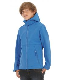 Softshell jas B&C Hooded Softshell Kids