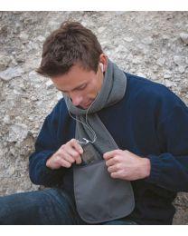 Sjaals, Result, Fleece Scarf with Pocket