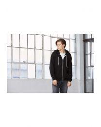 Poly-Cotton Fleece Full-Zip Hoodie Unisex