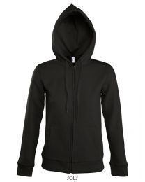 Dames, Hooded Zipped Jacket, Seven.