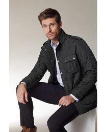 Modieuze gewatteerde jas voor heren.