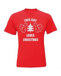 "Kerst T-shirt ""This Guy Loves Christmas"" Heren"