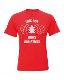 """Kerst T-shirt """"This Guy Loves Christmas"""" Heren"""