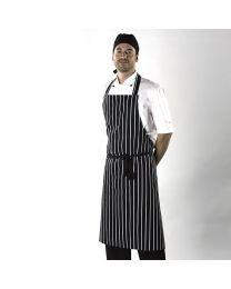 Schort Dennys London lang gestreept slagersschort uni