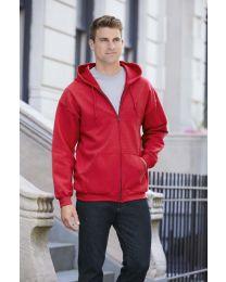 Full Zip Hooded Sweatshirt, Heavy Blend, heren.