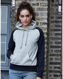 Two-Tone Hooded Sweatshirt, dames.