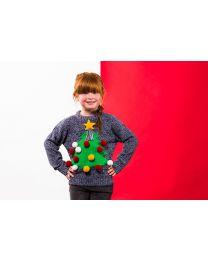 Kersttrui 3D Kerstboom Kinderen