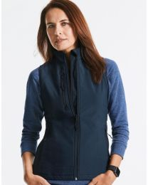 Dames, Softshell gilet. Russell