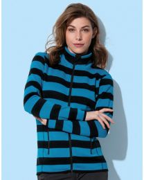 Stedman Striped Fleece Jacket Dames