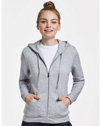 Hoodie full zip, sweat, dames.