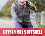 fietsen met softshell